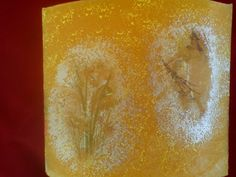 handmade decoupage candle