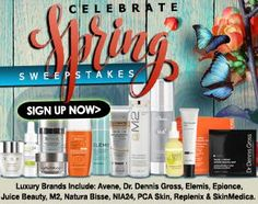 Celebrate Spring Sweepstakes : Win Over $1,000 in Luxury Skin Care Products!