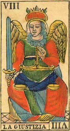 Justice - Ancient Tarot of Liguria-Piedmont