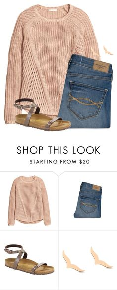 """""""Going to get my hair highlighted"""" by flroasburn ❤ liked on Polyvore featuring Abercrombie & Fitch, Birkenstock and Ginette NY"""