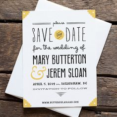 Bow Tie Save the Date by hellotenfold on Etsy