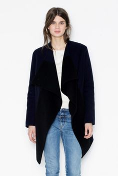 Color Block Cashmere navy/black - by Closed