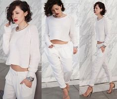 Karla Deras- all white casual