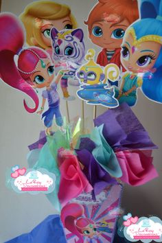 ON SALE Shimmer and Shine centerpiece Shimmer by LeRoyDecorations