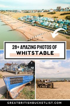 From the colourful beach huts and the harbour, to fresh oysters and cute boutiques, these photos of Whitstable will definitely make you want to visit! Find out more about getting the train from London to Whitstable, the top places to visit in the town, the best shops and restaurants, plus a few other special tips to make the most of your time in this Kent seaside destination. #Whitstable #Kent #VisitEngland #VisitBritain Beach Travel, Beach Trip, Best Places To Travel, Places To Visit, Towns In Cornwall, Whitstable Kent, Fresh Oysters, Beach Huts, Beaches In The World