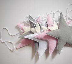 Star garland star door hanger grey nursery by Thesecretcrafthouse