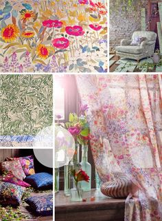 New Liberty Interiors - Secret Garden Collection. Alice Caroline is now selling the new interiors fabrics from Liberty. Stunning new fabrics which are suitable for upholstery, curtains and cushions. We love them!