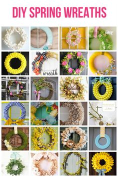 DIY Spring Wreath Ideas. Must do.... but when do I have time.