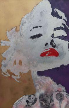 Marilyn My Girl - Purple & Gold | DegreeArt.com The Original Online Art Gallery