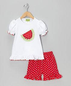 There's a lot going on out in the wide world and every little lady needs to explore sometimes. This comfy, fashionable set allows for all the moves she might make while out and about and keeps the fashion police at bay, with the advantage of being machine washable.Includes tee and shorts