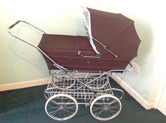 Bought from Mothercare in Vintage Pram, Vintage Toys, Pram Stroller, Baby Strollers, Mothercare Prams, Used Stuff For Sale, Stuff To Buy, Baby Carriage, Vintage Coach