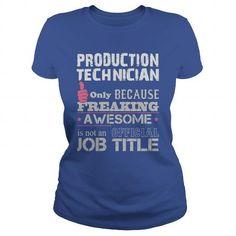 AWESOME PRODUCTION TECHNICIAN SHIRT T-SHIRTS, HOODIES (19$ ==► Shopping Now) #awesome #production #technician #shirt #shirts #tshirt #hoodie #sweatshirt #giftidea