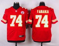... Top Suit Jersey Mens Kansas City Chiefs 74 Paul Fanaika Red Team Color NFL  Nike Elite Jersey ...