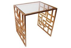 Picabia Modern Side Table, Gold