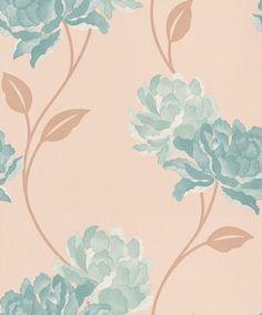 Peony Teal (30-019) - Dulux Wallpapers - A large scale floral that will add a dramatic touch to any room. Showing in Teal - other colour ways available. Please request a sample for true colour match. Paste-the-wall product.
