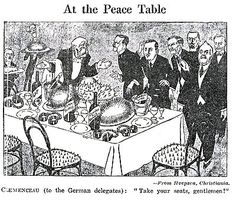 Treaty of Versailles political cartoon. The Treaty of Versailles was a peace treaty between Germany and the Allies at the end of WWI. World History Facts, World History Teaching, Modern World History, World History Lessons, European History, Us History, American History, History Timeline, History Projects