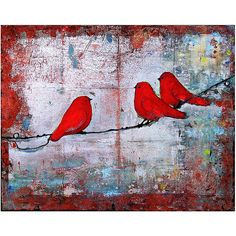 Three Little Birds 8X10 Print by blendastudio on Etsy