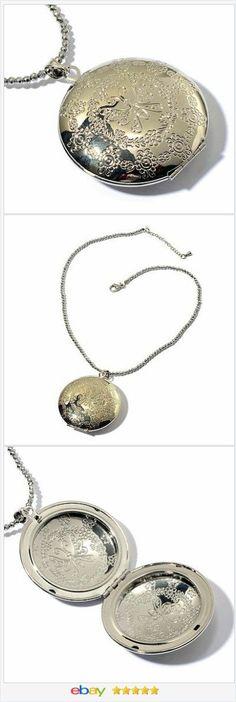 "Silver Tone Locket Necklace 18"" long USA Seller 50% OFF #EBAY http://stores.ebay.com/JEWELRY-AND-GIFTS-BY-ALICE-AND-ANN"