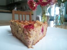 Cranberry Walnut Muffins or Bars or Breakfast Bread  almond and coconut flour