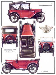Austin Seven 4-Seater Tourer, 1925 - Illustration: Kenneth Rush
