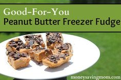 """Good-For-You Peanut Butter Freezer Fudge.  I likes these.  You can really taste the coconut oil so if you don't like that taste then you won't like these.  They """"melted"""" really fast outside of the freezer or fridge so it would be hard to take them anywhere. printed"""