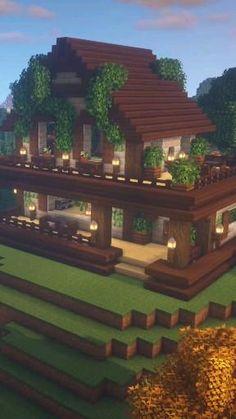 Casa Medieval Minecraft, Minecraft House Plans, Minecraft Cottage, Minecraft House Tutorials, Cute Minecraft Houses, All Minecraft, Minecraft Room, Minecraft Tutorial, Minecraft Creations