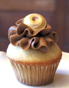 cute button cupcake