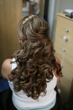 nice bride half up idea