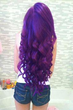 purple hair, so pretty