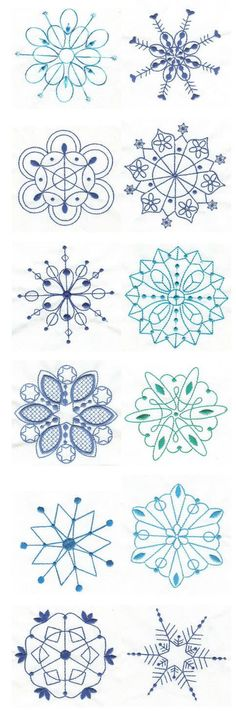 Embroidery | Free Machine Embroidery Designs | Simply Snowflakes Bluework:
