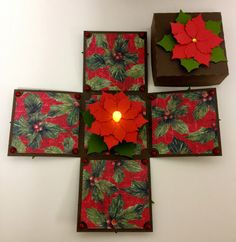 Paper Craft Studios: Explosion Box Tutorial Exploding boxes are the perfect gift for any occasion. The integrated LED… Exploding Gift Box, Exploding Box Template, Explosion Box Tutorial, Pop Up Box Cards, Paper Crafts, Diy Crafts, Light Crafts, Fancy Fold Cards, Craft Box