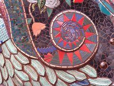 close up of park dragon