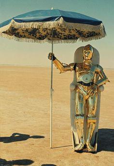 ...C-3PO at the beach...