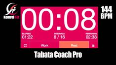 Tabata Coach Pro Adrenaline 144 bpm Tabata Workout with Vocal Coach & Timer