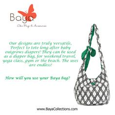 How will you use your Baya Bag?   #bayacollections  http://bayacollections.com/index.php?route=product/product&path=81_93&product_id=156