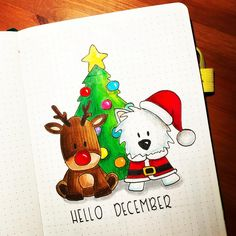 """Hello December"" page in my bullet journal. December will be my last month in my notebook, which is my fourth bullet… ""Hello December"" page in my bullet journal. December will be my last month in my notebook, which is my fourth bullet… Bullet Journal Christmas, December Bullet Journal, Bullet Journal Cover Page, Bullet Journal Notebook, Bullet Journal Themes, Bullet Journal Spread, Bullet Journal Layout, Journal Covers, Bullet Journal Inspiration"
