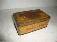 Vintage Rare Rowniree's Toffee Litho Print Advertising Tin Box, Made in England