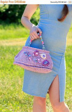 Sale Wedding Bag First Lady Bag Exclusive Bag Gift for her Gently Pink Bag Cocktail Bag Fashion Bag Embellished bag Satin ribbon Bag Romanti by GelveHandKnitting on Etsy