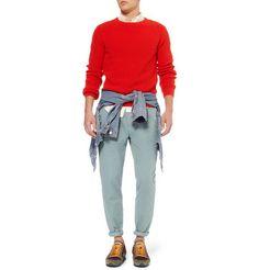 AMISlim-Fit Cotton Trousers