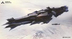 "ArtStation - New Federal Destroyer ""Trident ""——BOUNDARY APOCALYPSE, D. Rock-Art"