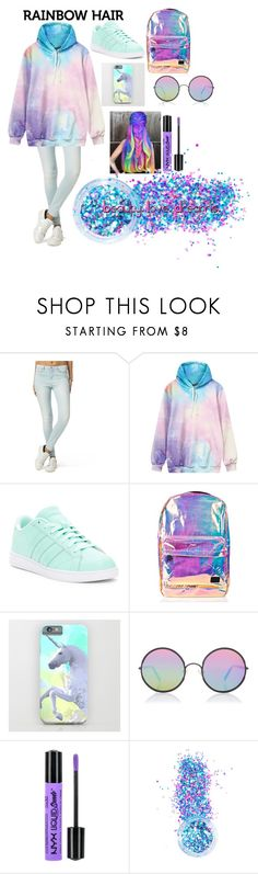 """""""Beauty. Love. Dreams."""" by zacarooney ❤ liked on Polyvore featuring Tommy Hilfiger, adidas, Spiral, Sunday Somewhere, NYX, In Your Dreams and plus size clothing"""