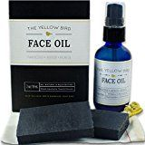 Charcoal Face Soap & Moisturizing Face Oil Set. Natural Skincare Regimen. Gentle Facial Soap & Anti-Aging Face Oil Moisturizer for Dry Sensitive Skin. Acne Treatment Kit for Men and Women.