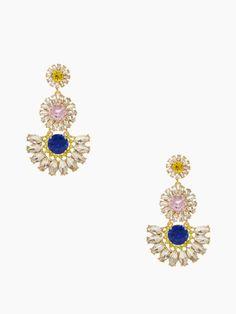 sunrise cluster flower chandelier earrings - kate spade new york
