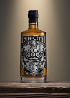 Sin City Whiskey Mint 400 Bottle Mock up