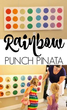 Rainbow Punch Pinata is perfect party game for rainbow party or st. The kids love rainbow punch pinatas. Birthday Party Games For Kids, Birthday Party Decorations Diy, Rainbow Birthday Party, Happy Birthday Parties, Adult Birthday Party, Party Crafts, Women Birthday, Turtle Birthday, Turtle Party