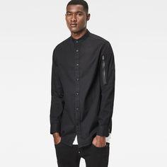 Stalt C-Less Zip Long Denim Shirt