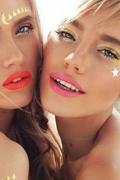 Beauty shooting with models: Kseniya Islamova, Kseniya Haritonova style: Oksana Sharapova make up: Jeni Zinovieva hair: Yaroslav Olkov #golden #makeup #beauty #pinklips #face #perfectskin #editorial #vogue #elle #marieclair #cosmo #stars #orange #lips #color #blue #eyes #tanned #summer #sunshine #smile #happy #sexy #girl #addict