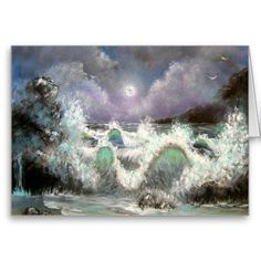 Evening Seascape Greeting Cards