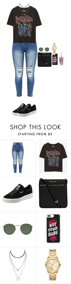 """""""Untitled #2628"""" by anisaortiz ❤ liked on Polyvore featuring Puma, MICHAEL Michael Kors, Ray-Ban and Michael Kors"""