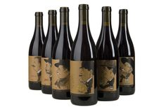 The #labels of Nottingham Cellars' new Vasco Urbano #Wine Company pay home to Rhone varietals with specific caricatures.